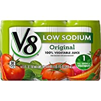 V8 100% Vegetable Juice, Low Sodium, 5.5 Ounce, 6 Count (Pack of 4)