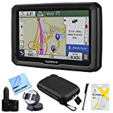 Garmin dezl 570LMT 5″ Truck GPS Navigation Lifetime Maps/Traffic Dashboard Mount Bundle – Includes 5″ Truck GPS Navigation System, Car Charger, Stylus Pen with Pocket Clip, Carry Soft Case and More