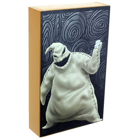disney nightmare before christmas hanging art picture halloween oogie boogie gifwooden table top wall shadow box decoration 8 x 5