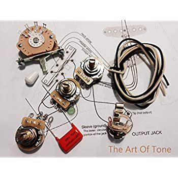 stratocaster input jack wiring wiring bass stereo wiring amazon com fender stratocaster strat 5 way wiring kit crl switch electric guitar input jack wiring stratocaster input jack wiring