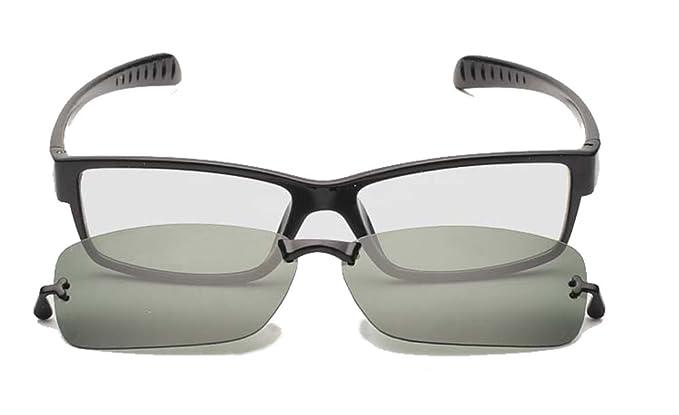 Prescription eyeglasses frames men eye glasses computer eyewear 2 in 1  sunglasses