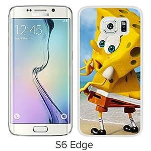 Hot Sale Samsung Galaxy S6 Edge Case ,Popular And Unique Designed With Funny Spongebob Squarepants White Samsung Galaxy S6 Edge High Quality Cover