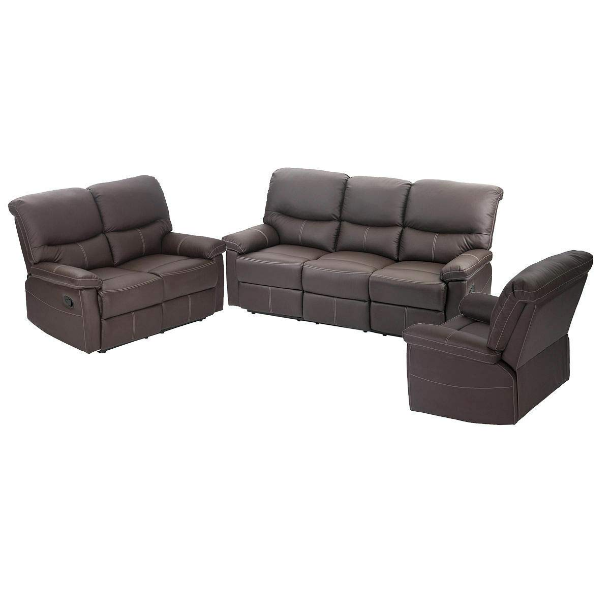Amazon.com: 9TRADING New Loveseat Chaise Couch Recliner 3+2+ ...