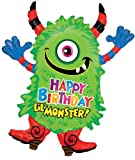 Birthday Monster Jumbo Foil Balloon (Green) Party Accessory