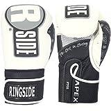 Ringside Apex Flash Sparring Gloves, Black/Gold, 14-Ounce