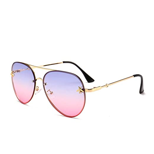 Yangjing-hl Gafas de Sol, Personalidad, Moda, sin Marco ...