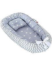 Baby bo, spädbarn som sover nyfödd bebis babykorg myssäng bo, 100 % bomull andningsbar mjuk bärbar spjälsäng madrass för sovrum resor