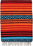 El Paso Designs Peyote Hippie Blanket Classic Mexican Style Falsa Stripe Pattern in Vivid Peyote Colors. Throw, Bed, Tapestry, or Yoga Blanket. Hand Woven Acrylic, 57'' x 74'' (Peyote 5)