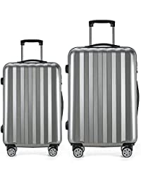 Luggage 2 Piece Expandable Set Hardshell Spinner Suitcase