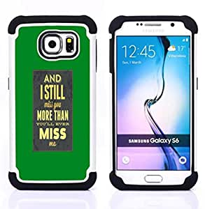BullDog Case - FOR/Samsung Galaxy S6 G9200 / - / I Miss Yo /- H??brido Heavy Duty caja del tel??fono protector din??mico - silicona suave