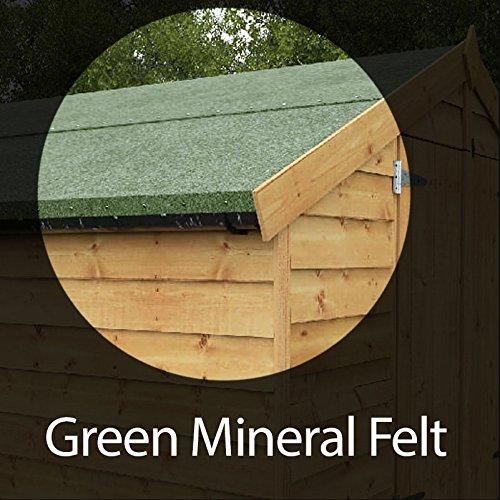 Premium verde galpón Mineral fieltro de techo 6, 6 m x 1 m rollo: Amazon.es: Jardín