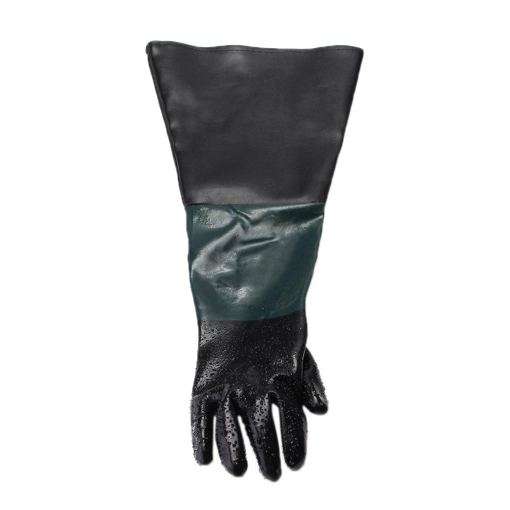 Fenteer Gants de Sablage Protection Travail De Remplacement Noir Vert