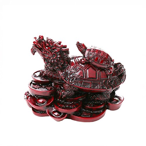 Resin Feng Shui Turtles On Top Of A Dragon /feng shui dragon turtle (Sits Resin Figurine)