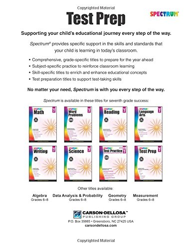 Counting Number worksheets math and money worksheets : Spectrum Test Prep, Grade 7: Spectrum: 9781483813745: Amazon.com ...