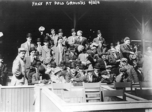Fans at Polo Grounds, New York Giants, Baseball Photo (16x24 Fine Art Giclee Gallery Print, Home Wall Decor Artwork Poster) ()