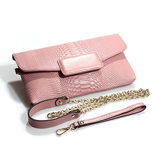 Motif à pink En Mesdames Sac Crocodile Embrayage Sac Main Cuir Dames Nouveau Enveloppe w6Iq88