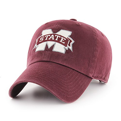 OTS NCAA Mississippi State Bulldogs Challenger Clean Up Adjustable Hat, Dark Maroon, One Size (Mississippi Alumni University State)