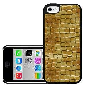 Yellow Albino Snake Skin Hard Snap on Case (iPhone 5c)