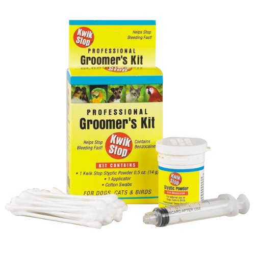 Miracle Care by Miraclecorp/Gimborn Kwik-Stop Groomers Kit for Dogs, Cats and (Gimborn Kwik Stop Powder)