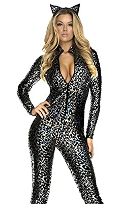 Forplay Women's Lustrous Lynx Catsuit and Headband