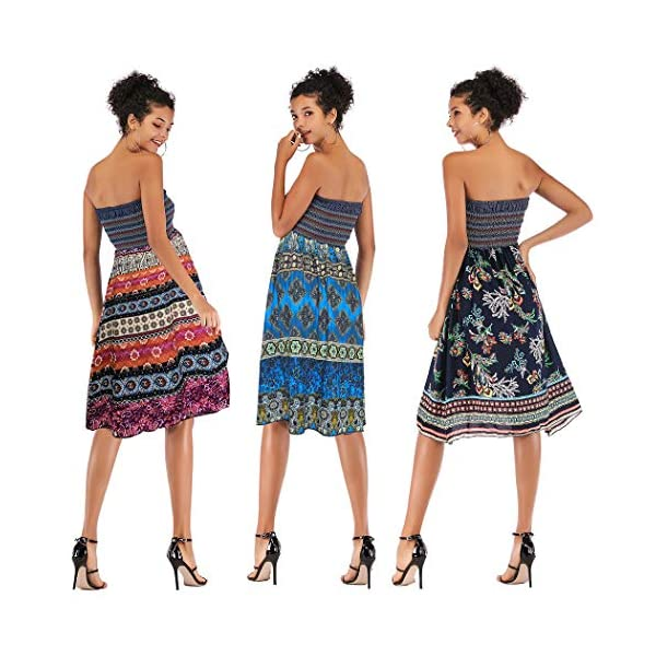 2 in 1 Tube Top Backless Dress