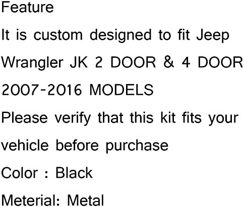 Car CB Antenna Mount Bracket Base for Jeep Wrangler JK 2//4 Door 2D 4D 2007-2016