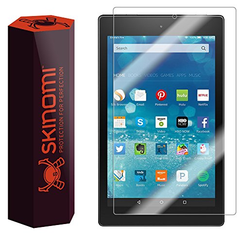 Skinomi Amazon Fire HD 8 Screen Protector (2015, 5th Gen), TechSkin Full Coverage Screen Protector for Amazon Fire HD 8 Clear HD Anti-Bubble Film