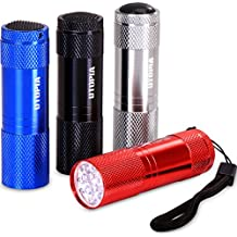 Pack of 4 Super Bright LED Mini Aluminum Flashlights - Compact and Sturdy - Simple to Operate - by Utopia Home