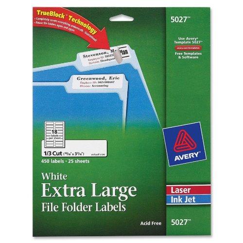 Avery Extra Large Printers TrueBlock Technology