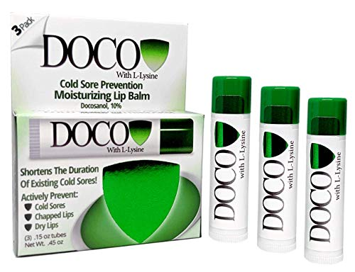 DocoShield Cold Sore Prevention Lip Balm w/Docosanol and Lysine (3-Pack) in USA