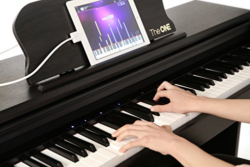 The ONE Smart Piano, Weighted 88-Key Digital Piano, Grand Graded Hammer-Action Keys Upright Piano-Matte Black