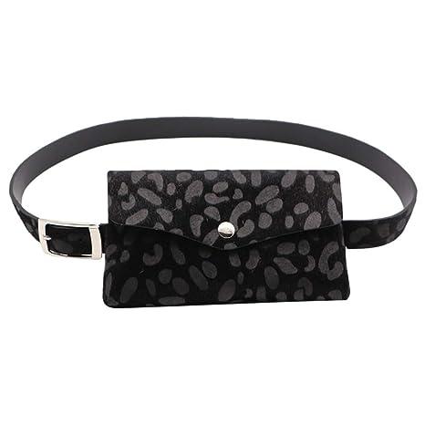 Riñoneras Mujer Mini Bolsillo Estampado de Leopardo Monedero ...
