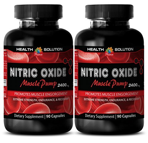 Nitric oxide l-arginine supplements for sex - NITRIC OXIDE MUSCLE PUMP 2400MG - increase testosterone levels (2 Bottles) by Health Solution Prime