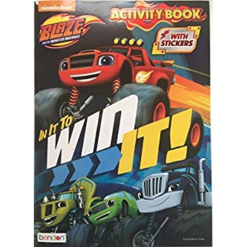 Blaze And The Monster Machines In It To Win Coloring Activity Book
