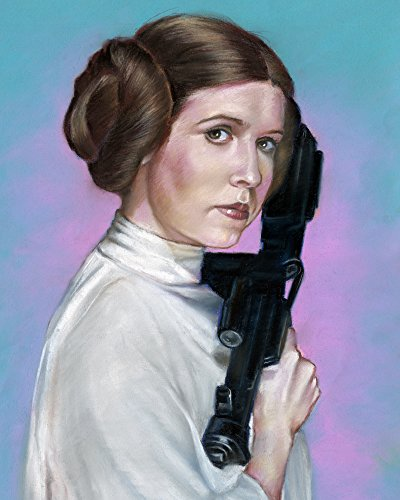 Star Wars Princess Leia Carrie Fisher Pastel Painting Poster Photo Paper Size 16 X20