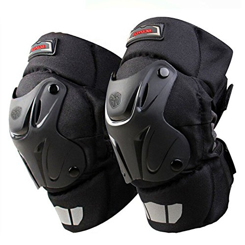 CRAZY AL'S CAK Motorcycle Motocross Racing Knee Guards Pads Braces Protective Gear Black ()