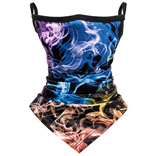 Unisex Bandana Face Mask Scarf Earloops Face Cover for Dust Wind Neck Gaiter