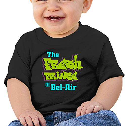 Arsmt The Fresh Prince of Bel-Air Toddler Short Sleeve Shirts Girl's Birthday Gift Black