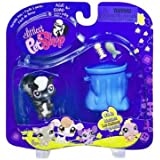 Littlest Pet Shop Portable Pet Skunk with Garbage Pail