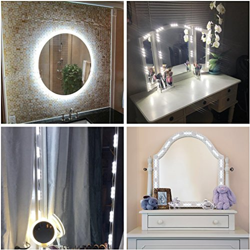LED Vanity Mirror Lights Kit, IMZ Bathroom Makeup Table Mirror Dimmable  Light Set, For