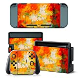 Nintendo Switch Skin Stickers,HARDKING Full Set Faceplate Skin Decal Stickers for Nintendo Switch Console & Joy-con Controller & Dock Protection Kit (multicolour3) Review