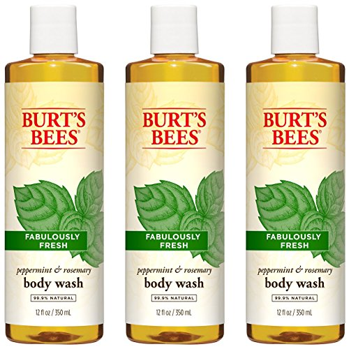 Burt's Bees Peppermint and Rosemary Body Wash, 12 Fluid Ounces (Pack of 3)