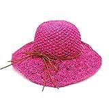 Mainstream Straw Hat Summer Beach Sun Hats For Women Ladies Caps,OneSize,RoseRed