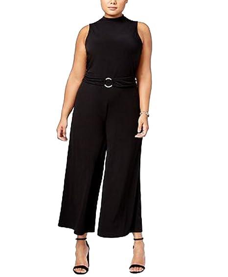 7b18fd4cde3 Amazon.com  Michael Michael Kors Plus Size Wide-Leg Jumpsuit  Clothing