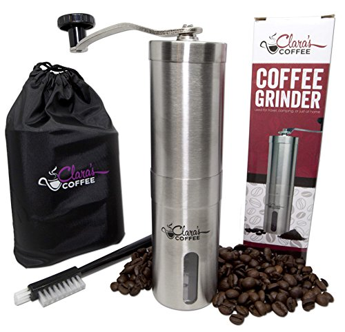 Clara's Coffee Stainless Steel Body and Adjustable Ceramic Conical Burr Manual Coffee Grinder (Coffee Mill Kit compare prices)