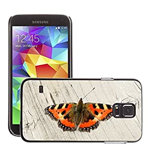 GoGoMobile Slim Protector Hard Shell Cover Case // M00117916 Butterfly Orange Nature Insect Wings // Samsung Galaxy S5 S V SV i9600 (Not Fits S5 ACTIVE)