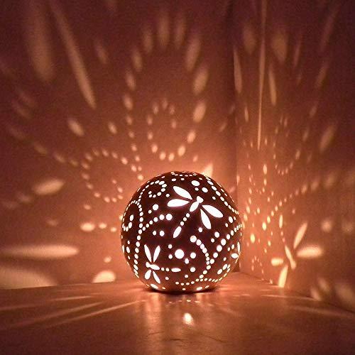 Dragonfly Ceramic Candle Holder, Handmade Lantern, Home And Wedding Reception Decor, Gift Idea ()