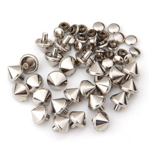Kamas 5 8 6 mm Stud Rivets Cone in Metal Silver