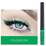 Aviat Eyeliner Metallic Shiny Smoky Eyes Eyeshadow Eyeliner Waterproof Glitter Liquid (G)