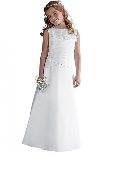 Vestido de primera comunión para niña 6 a 12 años. blanco 6 años